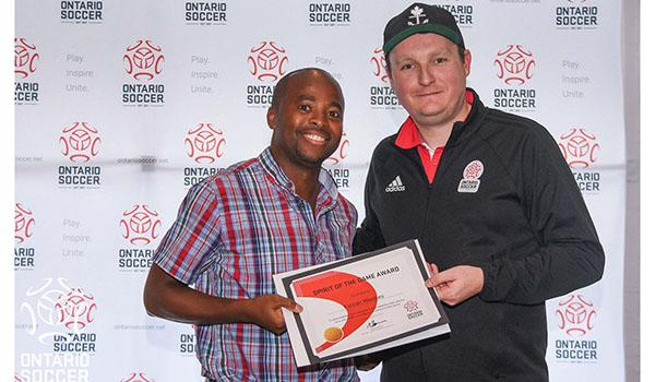 2019 Ontario Soccer Match official award